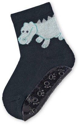 Sterntaler FliFli Slip-Resistant Speed Socks Conrad the Crocodile motif Age: 6-9 Months Size: 18 Navy Blue