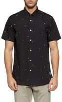 Tavik Men's 'Porter' Print Poplin Short Sleeve Woven Shirt