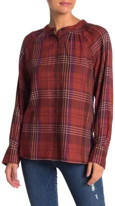 Susina Plaid Button Down Shirt (Petite)