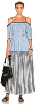 Lemlem Mara Maxi Dress in Blue,Stripes.