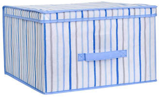 Laura Ashley Jumbo Collapsible Storage Box in Painterly Blue Stripe