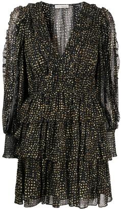 Ulla Johnson Prairie dotted tiered dress