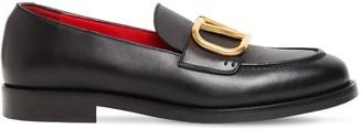Valentino 20mm V Logo Leather Loafers