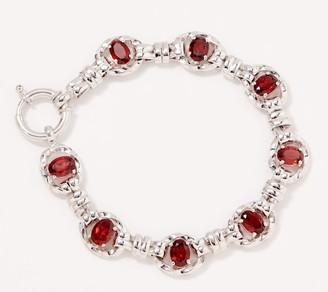 "Sterling Silver Gemstone 6-3/4"" Bracelet by Silver Style"