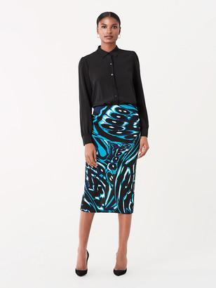 Diane von Furstenberg Kara Silk-Cady Pencil Skirt