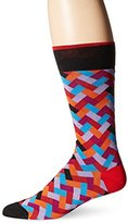 Bugatchi Men's Chevron Patterns Fancy Sock