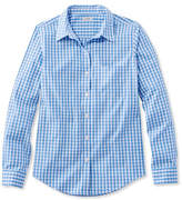 L.L. Bean Wrinkle-Free Pinpoint Oxford Shirt, Long-Sleeve Relaxed Fit Gingham