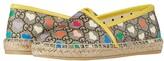 Gucci Kids Alejandro Flat (Little Kid) (Beige/Ebony/Multi/Freesia) Girl's Shoes