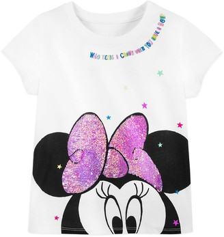 Disney Minnie Mouse Reversible Sequin Bow T-Shirt for Girls Walt World