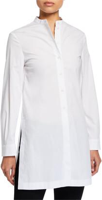 Emporio Armani Poplin Slit-Side Button-Front Tunic