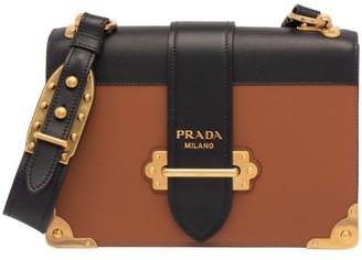 Prada Large Cahier Leather Crossbody Bag