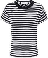 Rag & Bone Kat Stripe Split Back T-Shirt
