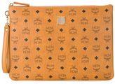 MCM logo print zip clutch bag - men - Polyester - One Size