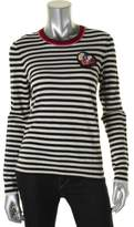 Tory Burch Womens Casmere Striped Crewneck Sweater