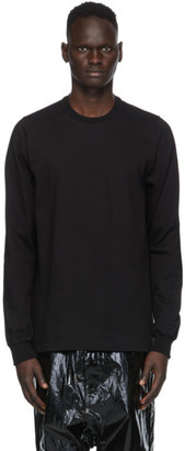 Rick Owens Black Cotton Jersey Sweatshirt