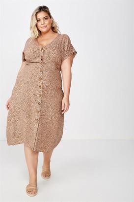 Cotton On Curve Button Front Midi Dress