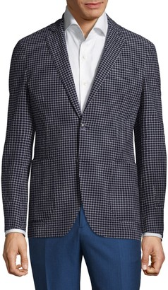 Etro Checkered Slim-Fit Jacket