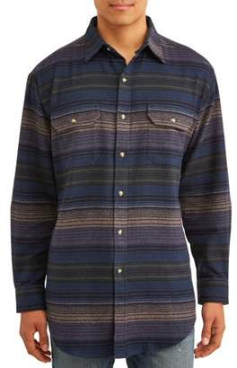 Plains Mens Long Sleeve Horizontal Stripe Flannel
