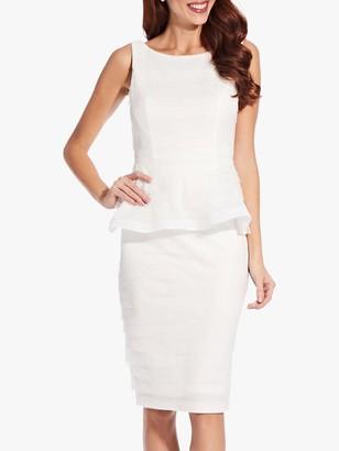 Adrianna Papell Petal Peplum Dress, Ivory