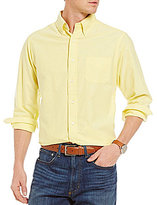 Daniel Cremieux Lightweight Washed Solid Oxford Long-Sleeve Woven Shirt