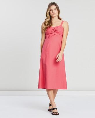 Atmos & Here Maggie Twist Midi Dress