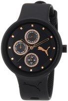 Puma Women's PU910412004 Slick Multifunction Black Rosegold Accented Watch