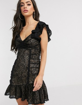 Talulah Masquerade lace mini dress