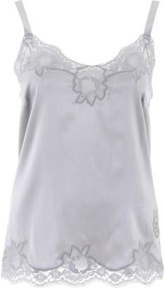 Dolce & Gabbana Lace-Trim Satin Camisole Top