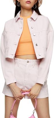 Topshop Organic Cotton Crop Denim Jacket
