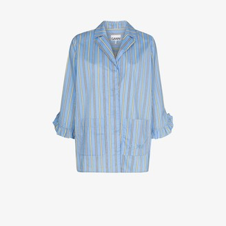 Ganni Striped Cotton Pyjama Shirt