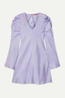 Maggie Marilyn + Net Sustain Just In Time Knotted Silk-satin Mini Dress - Lilac