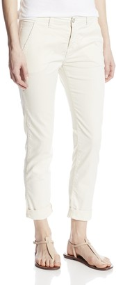 Siwy Women's Fiona Slouchy Cropped Chino Pant in Sand Dune 32
