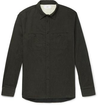 Mr P. Melange Brushed Cotton-Flannel Shirt