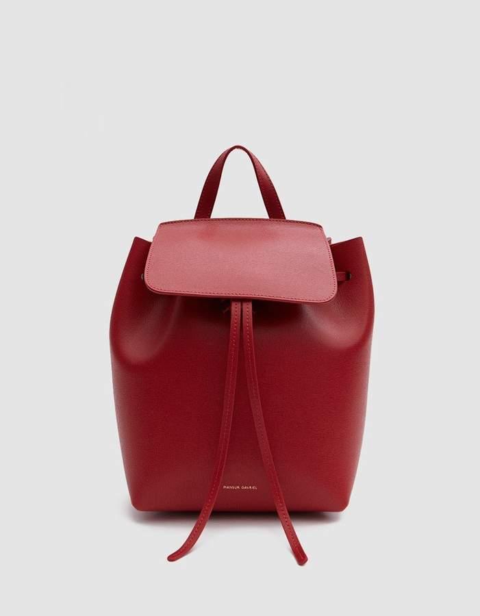 Mansur Gavriel Mini Backpack in Flamma/Flamma