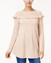 Style&Co. Style & Co Ruffled Sweater Tunic, Created for Macy's