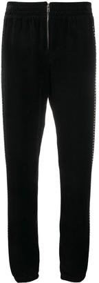 Juicy Couture Swarovski embellished velour zip jogger pant