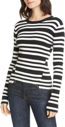 Frame Le Mix Panel Stripe Sweater