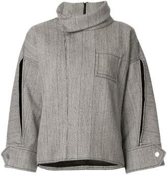 3.1 Phillip Lim zipped tweed wool blouse