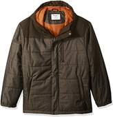 Champion Men's Big Size Tech Herringbone Quilted Puffer with Hood