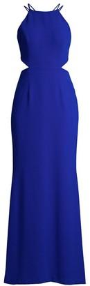 Aidan Mattox Highneck Cutout Gown