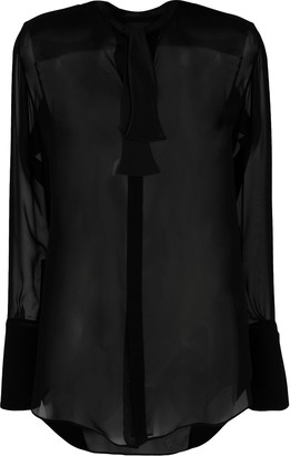Neil Barrett see-through shirt