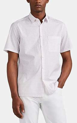 Theory Men's Irving Checked Cotton-Blend Shirt - White