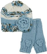 Peppercorn Kids beanie set with mittens (Tod/Little Kid) - blue-M ( 2-4 Y)