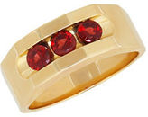 Lord & Taylor Garnet and 14K Yellow Gold Ring