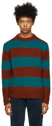 DOPPIAA Red and Green Alpaca Aprica Sweater