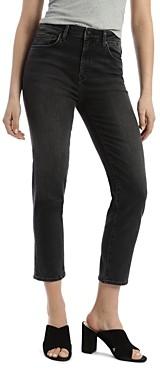 Mavi Jeans Lea Vintage Cropped Jeans in Dark Gray
