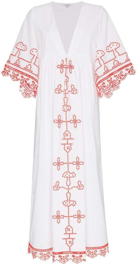 Ganni peony maxi dress