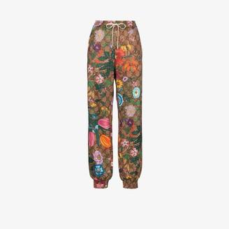 Gucci Floral monogram print track pants