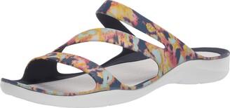 Crocs Women's Swiftwater Tie Dye Sandal|Casual Slip On|Water and Beach Shoe Slide