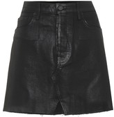 GRLFRND The Milla coated denim miniskirt